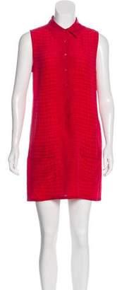 Equipment Printed Sleeveless Mini Dress