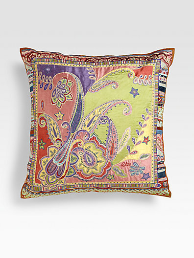 Etro Moulon Silk Pillow