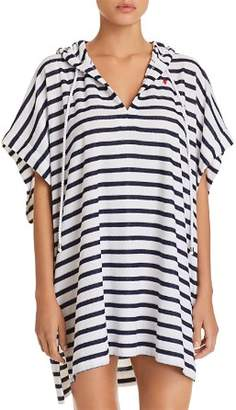 Ralph Lauren Striped Terry Poncho Swim Cover-Up