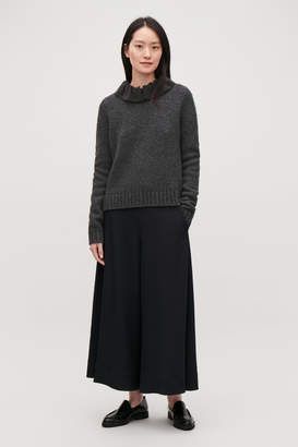 Cos REMOVABLE-COLLAR WOOL JUMPER