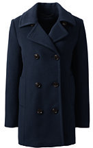 Lands' End Women's Relaxed Wool Peacoat-Pale Pink $229 thestylecure.com