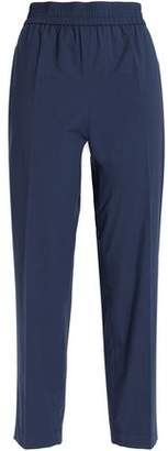Moschino Cropped Cotton-Blend Straight-Leg Pants