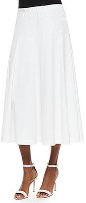 Joan Vass Seamed Midi Skirt $158 thestylecure.com