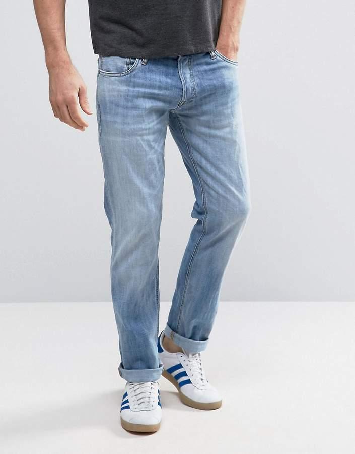 Jack And JonesJack & Jones Intelligence Jeans in Slim Fit Washed Denim
