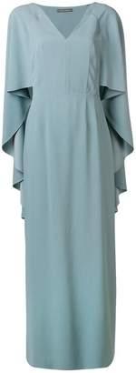 Alberta Ferretti cape dress