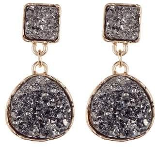 Panacea Imitation Drusy Double Drop Earrings