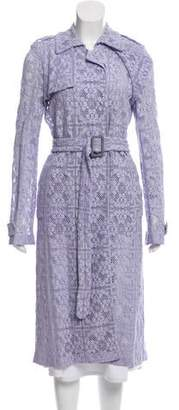 Burberry Embroidered Lace Coat