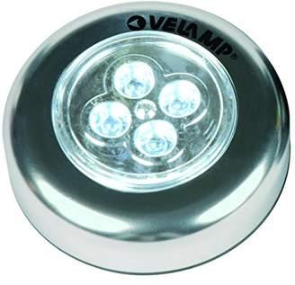 Velamp IL12 Mini Push Light in aluminum, 3 LED