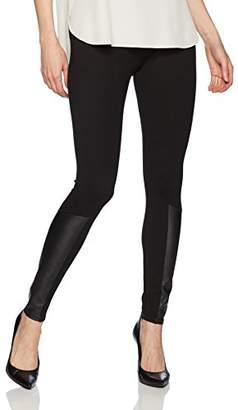 Jones New York Women's Legging W/Faux Leather Insert
