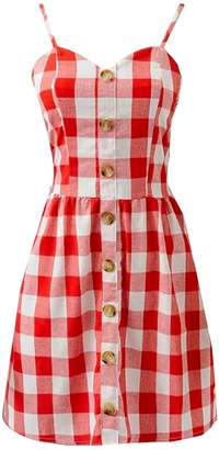 Goodnight Macaroon 'Hector' Button Front Linen Mini Dress (5 Colors)