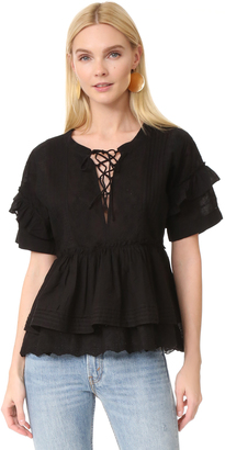 The Kooples Ruffle Blouse $270 thestylecure.com