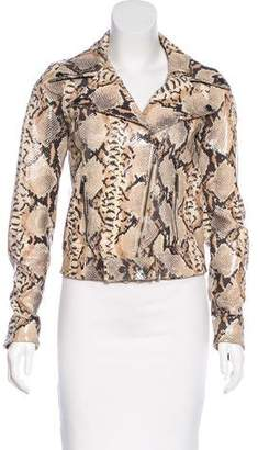 Blumarine Leather Embossed Jacket