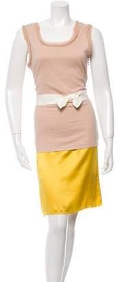 Lanvin Colorblock Scoop Neck Dress
