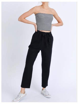 Love Tree Elastic Linen Pants