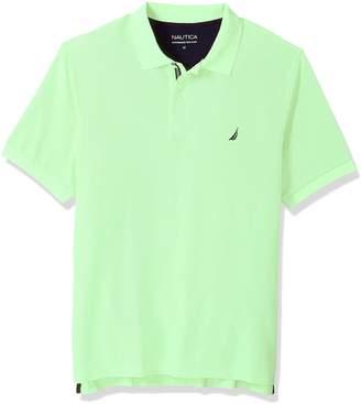 Nautica Men's Tall Classic Short Sleeve Solid Polo Shirt