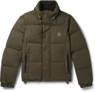 Belstaff Aviation Quilted Cotton-Canvas Down Jacket