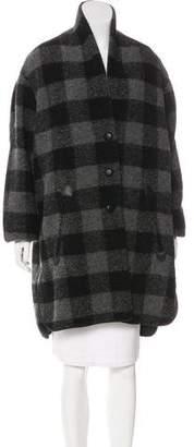 Etoile Isabel Marant Gingham Wool-Blend Coat