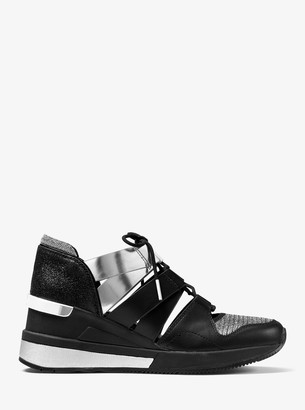MICHAEL Michael Kors Beckett Chain-Mesh and Leather Sneaker