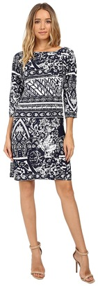Christin Michaels - Zula Long Sleeve Shift Dress Women's Dress $69 thestylecure.com