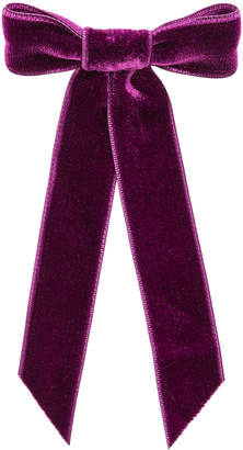 Jennifer Behr Velvet Bow Barrette in Mulberry | FWRD