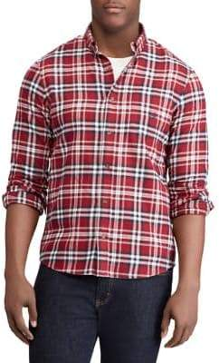 Chaps Big Tall Plaid Performance Flannel Sport Shirt