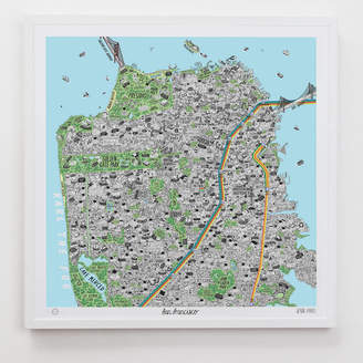 Evermade Hand Drawn Map Of San Francisco