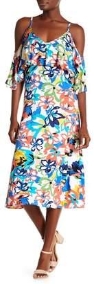 Rachel Pally Jae Cold Shoulder Patterned Dress