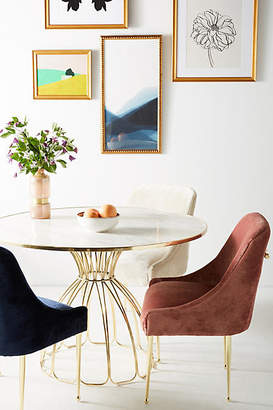 Anthropologie Slub Velvet Elowen Chair