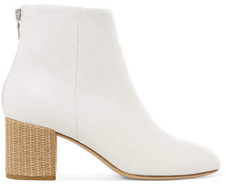 Rag & Bone Drea Leather Ankle Boots - White