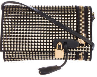 Tom Ford Tom Ford Studded Alix Fold-Over Crossbody Bag