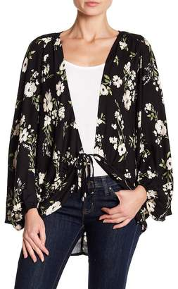 Love Stitch Floral Print Cocoon Cardigan