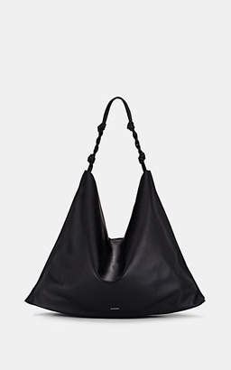 Jil Sander Women's Tangle Leather Hobo Bag - Black