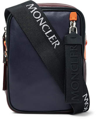 Moncler Colour-Block Leather Messenger Bag