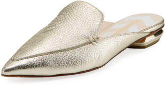 Nicholas Kirkwood Beya Metallic Leather Loafer Mule