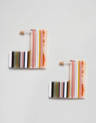 Asos Design Square Slice Resin Earrings