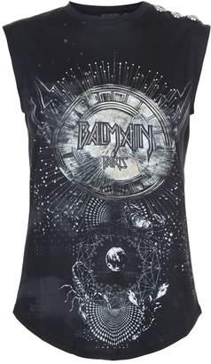 Balmain Constellation Logo Sleeveless T-Shirt