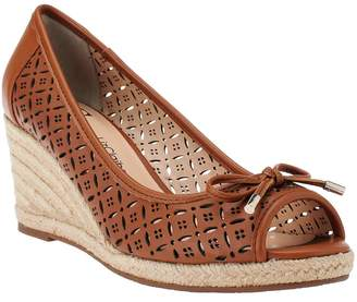 Liz Claiborne New York Perforated Wedges with Bow Detail