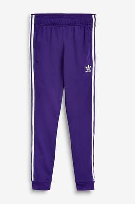 adidas Girls Purple Superstar Joggers - Purple