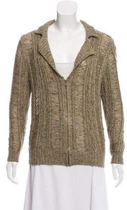 Opening Ceremony Rodarte x Cable-Knit Zip-Up Cardigan