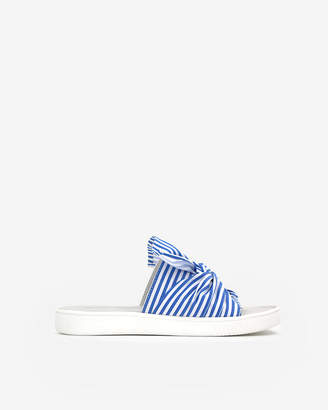 Express Jane And The Shoe Striped Jessica Sandals