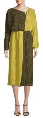 Robert Rodriguez Colorblock Blouson Dress