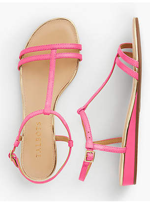 Talbots Daisy Micro-Wedge Sandals - Leather