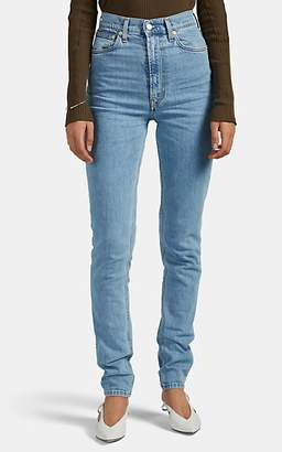 Helmut Lang Women's Hi Spikes Slim-Straight Jeans - Blue