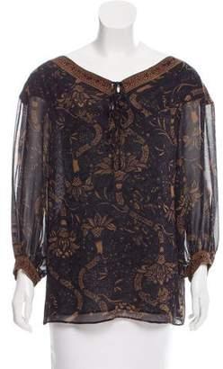 Barbara Bui Silk Long Sleeve Blouse