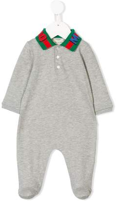 Gucci Kids knitted collar pajamas