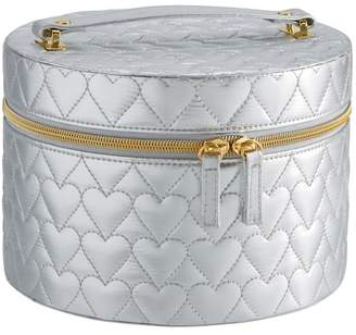 Pottery Barn Teen Metallic Quilted Beauty Travel Case, Silver