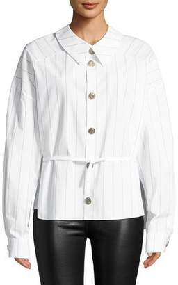 Awake Back To Front Striped Button-Down Shirt