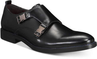 Alfani AlfaTech by Men's Heath Double Monk Plain-Toe Loafers