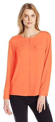 Dockers Women's Crepe Pocket Shirt $22.31 thestylecure.com