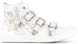 Chloé Kyle buckled hi-top sneakers